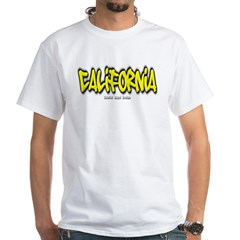 California Graffiti White T-Shirt