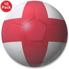 """England Soccer 3.5"""" Button (10 pack)"""