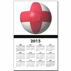 England Soccer Calendar Print