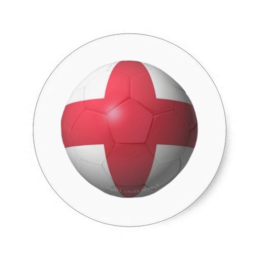England Soccer Classic Round Sticker