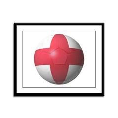 England Soccer Framed Panel Print