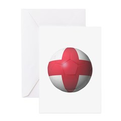 England Soccer Greeting Cards (Pk of 20)