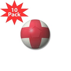 England Soccer Mini Button (10 pack)