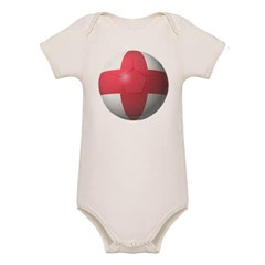 England Soccer Organic Baby Bodysuit