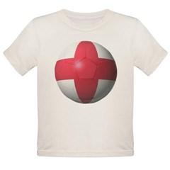 England Soccer Organic Toddler T-Shirt