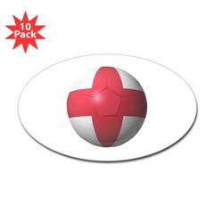 England Soccer Oval Decal 10 Pack