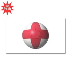England Soccer Rectangle Decal 50 Pack