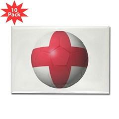 England Soccer Rectangle Magnet (10 pack)