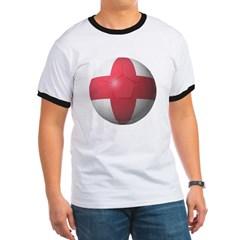 England Soccer Ringer T-Shirt