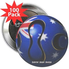 "Australia Soccer 2.25"" Button (100 pack)"