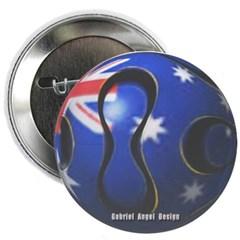 Australia Soccer Button
