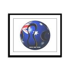 Australia Soccer Framed Panel Print