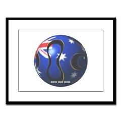 Australia Soccer Large Framed Print