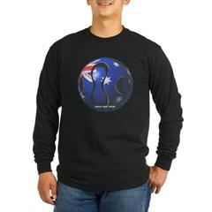 Australia Soccer Long Sleeve Dark T-Shirt