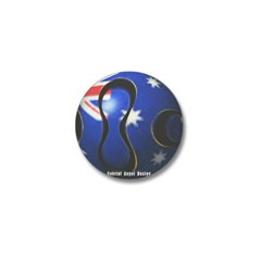 Australia Soccer Mini Button