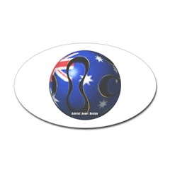 Australia Soccer Oval Decal