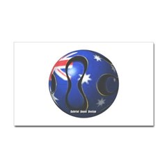 Australia Soccer Rectangle Decal