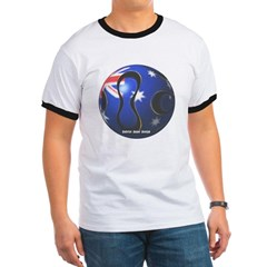 Australia Soccer Ringer T-Shirt