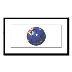 Australia Soccer Small Framed Print
