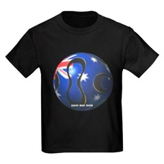 Australia Soccer Youth Dark T-Shirt by Hanes