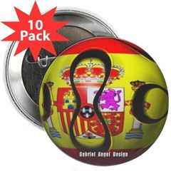 "Spain Soccer 2.25"" Button (10 pack)"