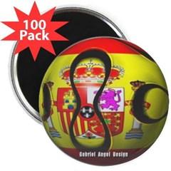 """Spain Soccer 2.25"""" Magnet (100 pack)"""