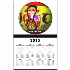 Spain Soccer Calendar Print
