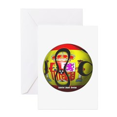 Spain Soccer Greeting Cards (Pk of 10)