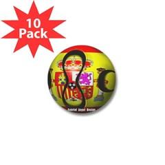 Spain Soccer Mini Button (10 pack)