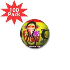Spain Soccer Mini Button (100 pack)