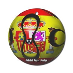 Spain Soccer Ornament (Round)