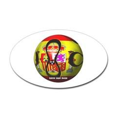 Spain Soccer Oval Decal