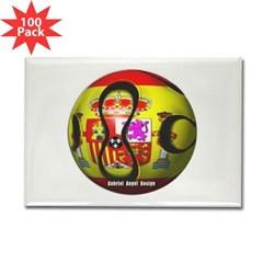 Spain Soccer Rectangle Magnet (100 pack)