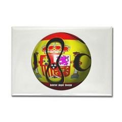 Spain Soccer Rectangle Magnet