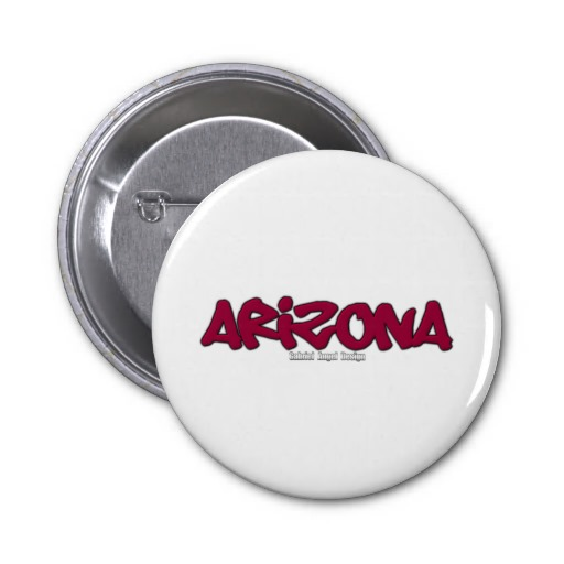 Arizona Graffiti 2 Inch Round Button