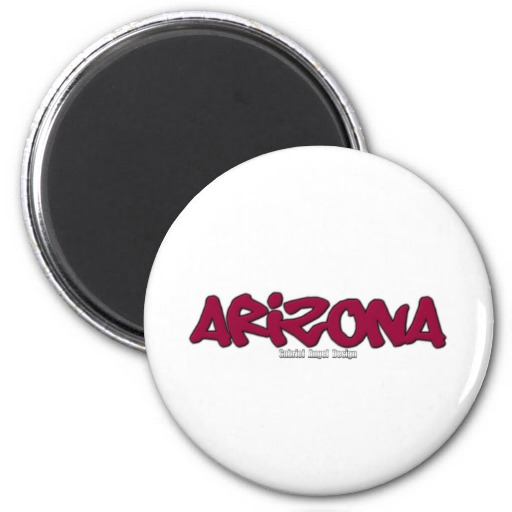 Arizona Graffiti 2 Inch Round Magnet