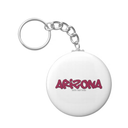 Arizona Graffiti Basic Button Keychain