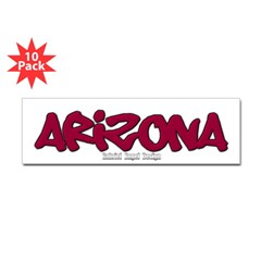 Arizona Graffiti Bumper Sticker 10 Pack