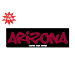 Arizona Graffiti Bumper Stickers 10 Pack