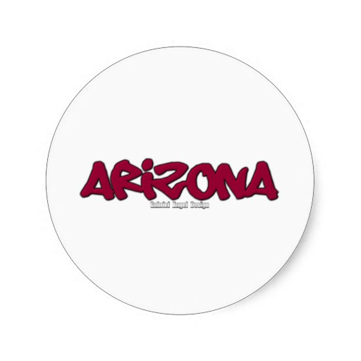 Arizona Graffiti Classic Round Sticker
