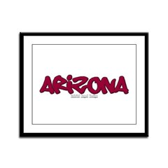 Arizona Graffiti Framed Panel Print