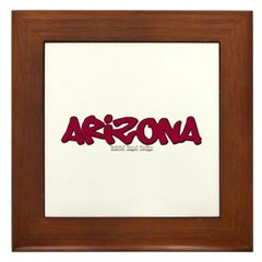 Arizona Graffiti Framed Tile