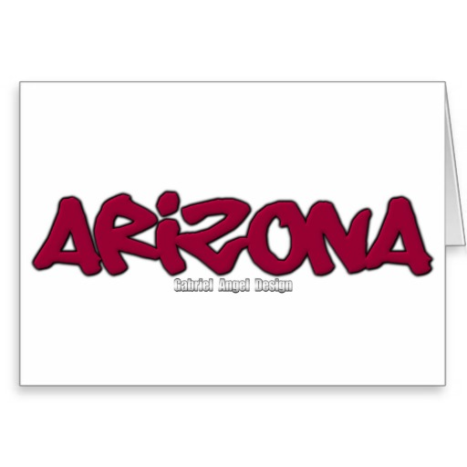 Arizona Graffiti Greeting Card