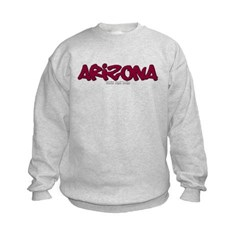 Arizona Graffiti Kids Crewneck Sweatshirt by Hanes