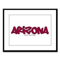 Arizona Graffiti Large Framed Print