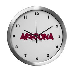Arizona Graffiti Modern Wall Clock