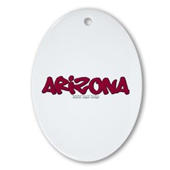 Arizona Graffiti Ornament (Oval)
