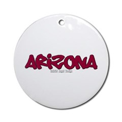 Arizona Graffiti Ornament (Round)
