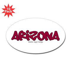 Arizona Graffiti Oval Decal 10 Pack