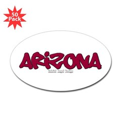 Arizona Graffiti Oval Decal 50 Pack